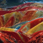 Fotografía de montañas Danxia