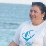 Judith Castro, vocera de la comunidad de Cabo Pulmo, y Manuel, junto con otros compañeros que viven en la zona, se encuentran el día de hoy en la capital del país.