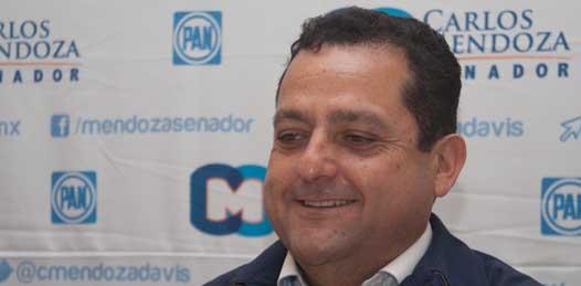 """""""Seguiremos persiguiendo a los corruptos"""" garantiza Carlos Mendoza"""