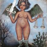 """Max Uranga ofreció su última exposición, """"De pinta"""", en el mes de diciembre, donde la mujer y el paisaje, su tópico, invadió la Galería de Arte Luna California."""