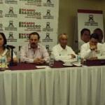 Cristina Díaz Salazar, en compañía del delegado Víctor Hugo Celaya Celaya, el secretario regional, Enrique Martínez y Martínez, así como por el coordinador regional, Baltasar Hinojosa Ochoa, visitaron el municipio de Los Cabos.