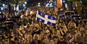Estudiantes protestan en Montreal: 300 detenidos