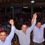 El candidato del PAN al Senado de la República, Carlos Mendoza Davis, recibió la adhesión total de la dirigencia y militancia del Partido de Renovación Sudcaliforniana, durante un multitudinario acto en La Paz.