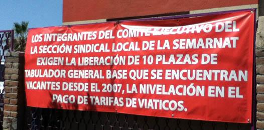 Baldemar Sicairos, líder del Sindicato de Trabajadores de la SEMARNAT dijo que el paro continuará, pues ellos piden el acceso a tales plazas, lo más pronto posible, y avisó que podrían manifestarse frente a CONAGUA.