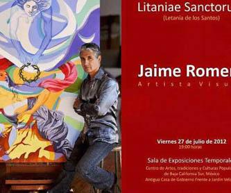 Los lienzos de Jaime Romero muestran un lado extravagante del arte eclesiástico, en donde los colores vivos y sólidos muestran imágenes sugerentes y subjetivas.