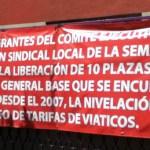 """José Antonio González Vizcarra, delegado de la SEMARNAT en la entidad, """"nos chamaqueó"""", indicó Sicairos, precisando que el secretario manifestó contar con cuatro plazas al sindicato, cuando en realidad contaba con cinco."""