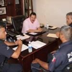 El delegado municipal, Martín Lagarda Ruiz, nombró oficialmente como Comandante Delegacional de la Dirección de Seguridad Pública en la localidad, a Tomás Martín Espinoza Albáñez.