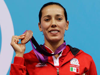 La clavadista mexicana se ubica en el tercer sitio en el trampolín de 3 metros y consigue la quinta medalla para la delegación azteca.
