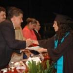 La UABCS celebró la graduación de 308 nuevos profesionistas el pasado 14 de septiembre de 2012 en el Teatro de la Ciudad de La Paz.