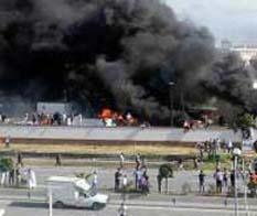 Incendian embajada de EU en Túnez
