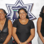 Isabel, Luisa y Wendy Meza Higuera.
