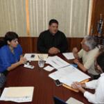 El presidente Municipal, Guillermo Santillán Meza se reunió con Marcos José Sánchez Lira y el museólogo, Demián Ortiz.