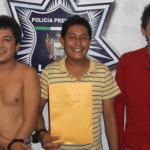 Cristian Lamberto Flores López, Damián Aguilar López y José Daniel Cota.