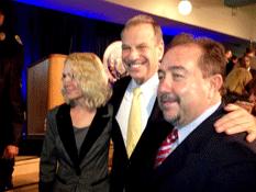 El alcalde Antonio Agúndez en su acercamiento con el nuevo Mayor de San Diego