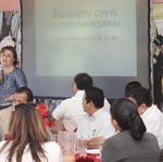 La alcaldesa de La Paz, Esthela Ponce
