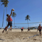 volibol de piso y de playa.