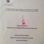 Carta Hugo Chavez