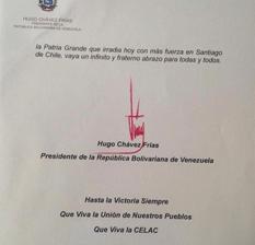 Chávez, señales de vida