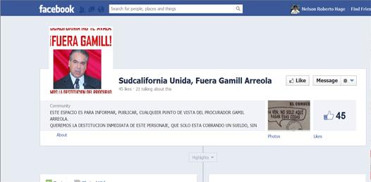 Gamill en FB