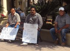 Manifestaciones pro y contra casino