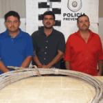 Leonardo Arce Cadena, Francisco Javier Espinoza Verduzco y Jorge Arturo Cota Amador.