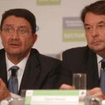 Taleb Rifai y Carlos Vogeler, durante una conferencia de prensa en la Ciudad de México en 2010.