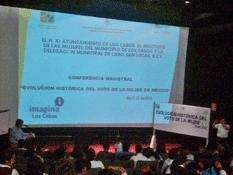 Conferencia sobre el voto femenino