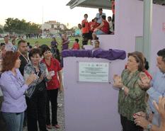 Inaugura alcaldesa parque público Miramar