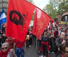 Franceses contra austeridad