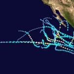 huracanes en el Pacifico