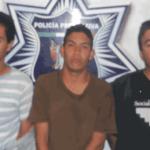 Luis Enrique Aguilar Manzano, Adrián Topete López y Jesús Daniel Camacho Hurtado.