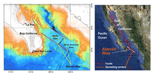 Descubren volcán submarino en aguas sudcalifornianas