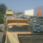 Camioneros en palacio