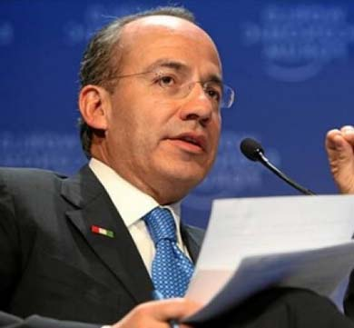 Calderón, el «mejor presidente de México»