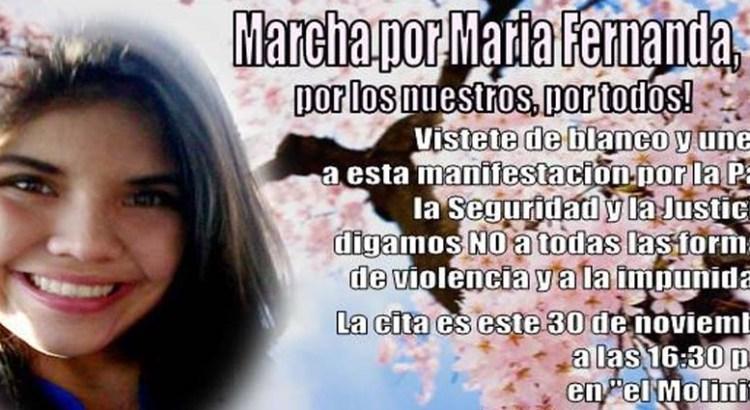 """Convocan familiares de María Fernanda a """"Marcha contra la violencia"""""""