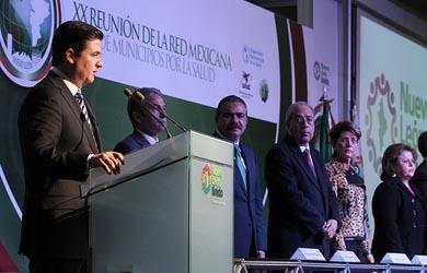Inauguran XX reunión de la Red Mexicana de Municipios por la Salud