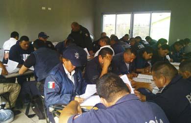 Evalúan al personal de la Policía Preventiva