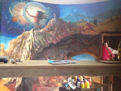 Mural representativo de la historia sanluqueña