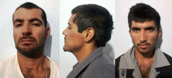 Hugo Monreal López, Jonatán Martín Ceballos Guerrero y  Luis Enrique Fonseca González.