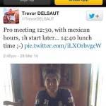 Trevor Delsaut tuiteo