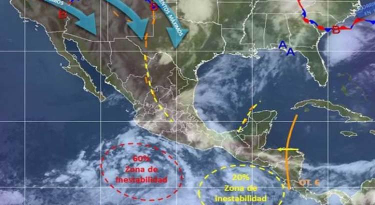Amenaza depresión 4-E con convertirse en tormenta tropical