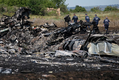 Incriminan a separatistas en derribo de avión