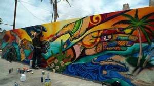 Mural en  El Manglito