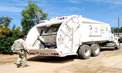 Lentamente se restablece la recolección de basura