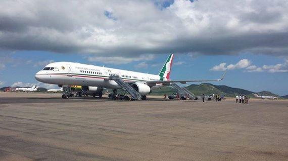 El avión del presidente.