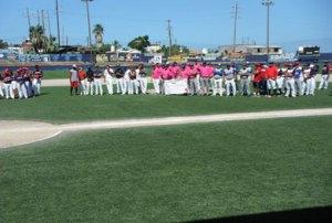 Inauguración del campeonato invernal de béisbol de segunda fuerza.