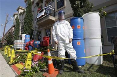 Ebola, decoración para Halloween