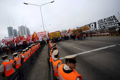 Huelga general en Argentina