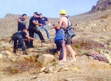 Rescatan a improvisado alpinista