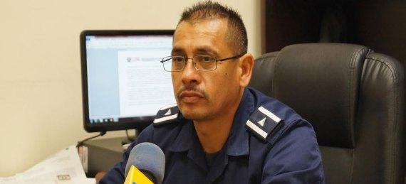 Comandante Eduardo de Dios Zermeño, de la Sub Dirección Operativa de la DSyTM paceña.